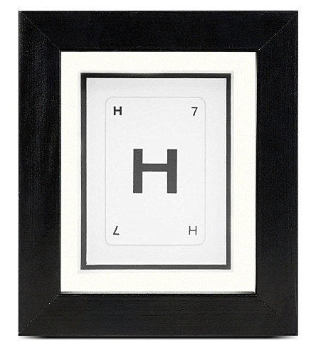 VINTAGE PLAYING CARDS H mini initial frame