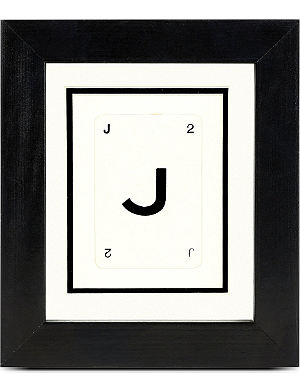 VINTAGE PLAYING CARDS Initial frame - J