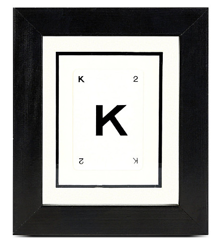 VINTAGE PLAYING CARDS Initial frame - K