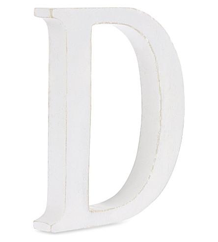 NKUKU Wooden letter 'D' 15cm