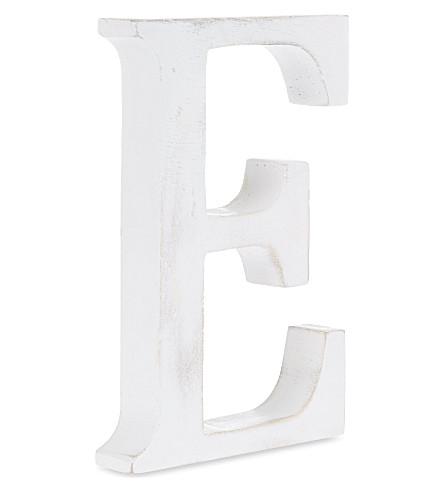 NKUKU Wooden letter 'E' 15cm