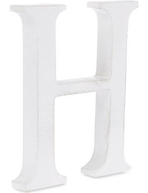 NKUKU Wooden letter 'H' 15cm