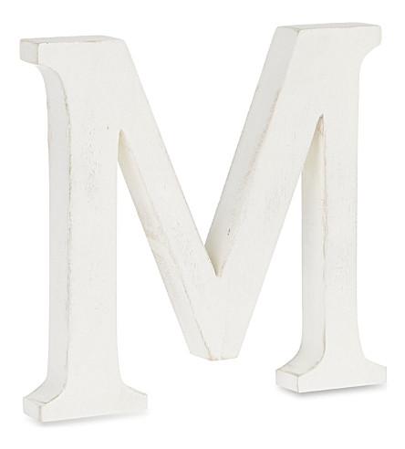 NKUKU Wooden letter 'M'