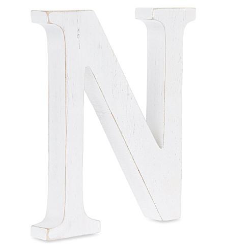 NKUKU Wooden letter 'N' 15cm