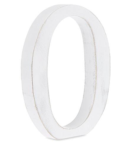 NKUKU Wooden letter 'O' 15cm