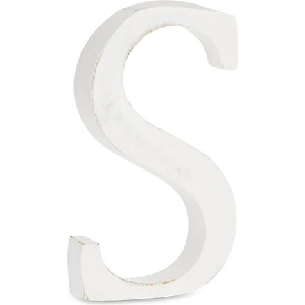 NKUKU Wooden letter 'S'