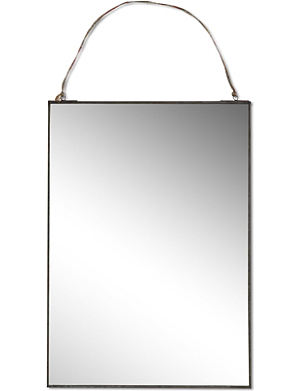 NKUKU Antique zinc mirror 50x35cm