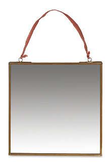 NKUKU Brass mirror 20 x 20cm