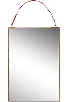 NKUKU Kiko brass mirror 35 x 50cm