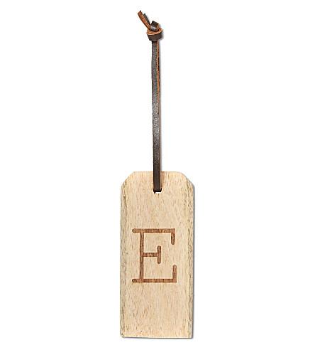 NKUKU 'E' wooden alphabet tag