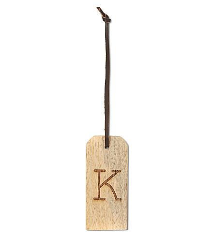 NKUKU 'K' wooden alphabet tag