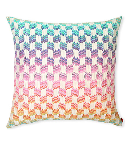 MISSONI HOME Pailin large checked cushion