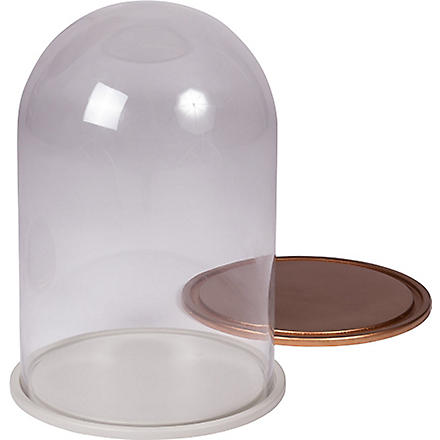BROSTE Extra large wooden and glass dome with two bases