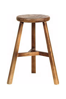 BROSTE Merlino elm wood stool