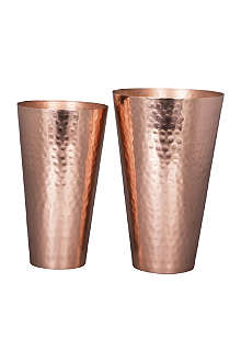 BROSTE Lassi copper-plated iron vase 21cm