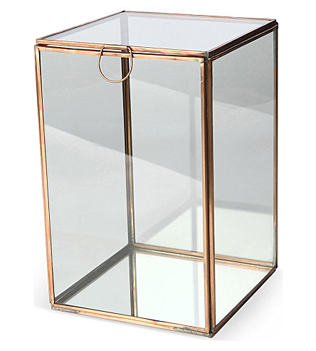 CULINARY CONCEPTS Glasshouse large copper candle holder
