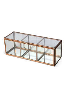 CULINARY CONCEPTS Glasshouse triple section copper candle holder