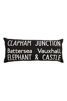 Clapham Bus Route cushion