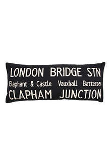 London Bridge Bus Route cushion
