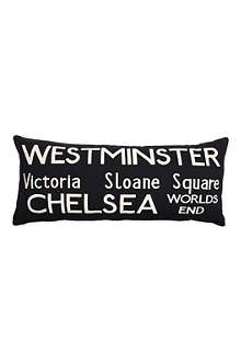Westminster Bus Route cushion