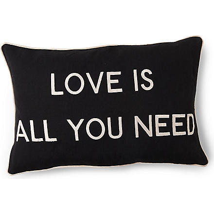 BARBARA COUPE Love is all You Need cushion