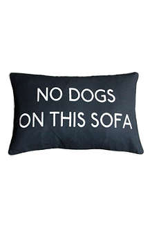 BARBARA COUPE No Dogs On This Sofa cushion