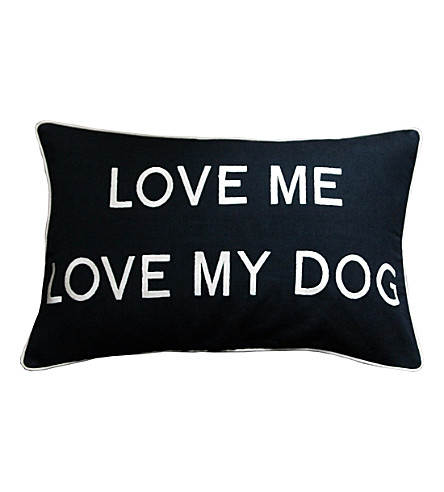 BARBARA COUPE Love Me Love My Dog cushion