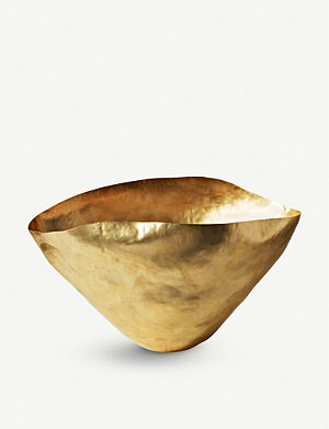 TOM DIXON Bash small brass vessel 31cm