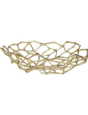 TOM DIXON Bone large brass bowl