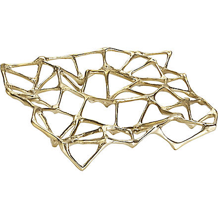 TOM DIXON Bone brass trivet