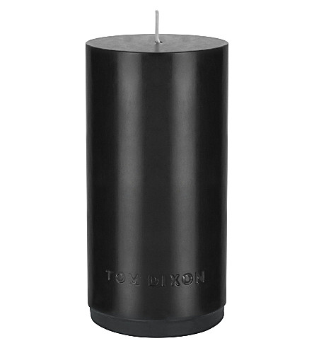 TOM DIXON Pillar candle black