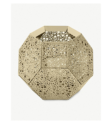 TOM DIXON Etch brass candleholder