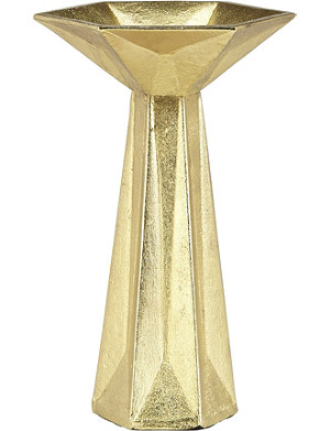 TOM DIXON Gem gold candlestick