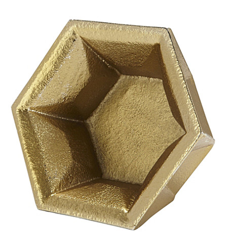 TOM DIXON Gem gold tealight holder