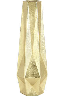 TOM DIXON Gem tall gold vase
