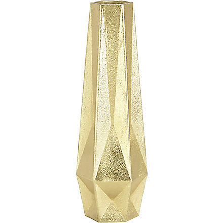 TOM DIXON Gem tall gold vase