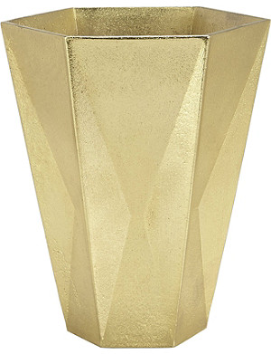 TOM DIXON Gem large gold vase