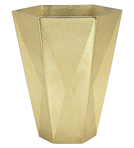 TOM DIXON Gem large gold vase