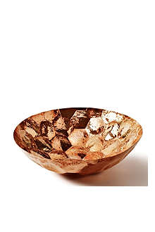 Hex medium copper bowl 28cm