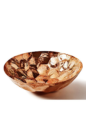 TOM DIXON Hex medium copper bowl 28cm