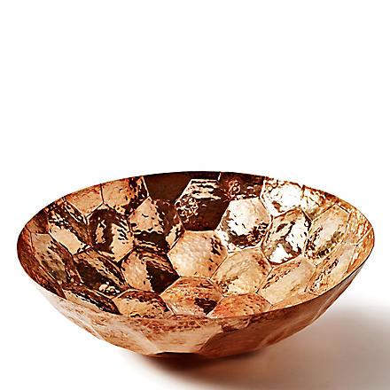 TOM DIXON Hex medium copper bowl 28cm