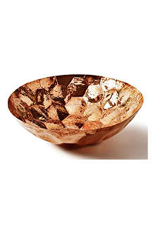 Hex large copper bowl 38cm