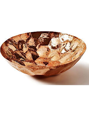 TOM DIXON Hex large copper bowl 38cm