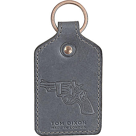 TOM DIXON Hide grey key ring