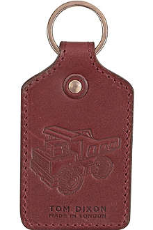 TOM DIXON Hide oxblood leather key ring