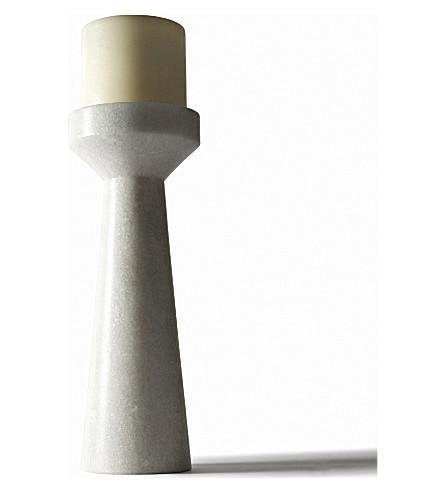 TOM DIXON Stone marble candleholder 26cm