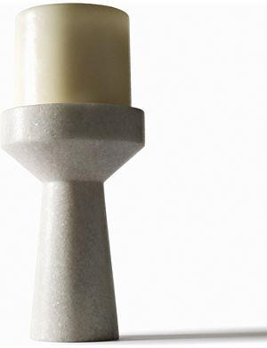 TOM DIXON Stone marble candleholder 13cm
