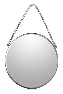HOUSE DOCTOR Bolina round silver mirror 38cm, stylish mirrors