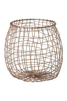 HOUSE DOCTOR Copper mesh basket 24cm
