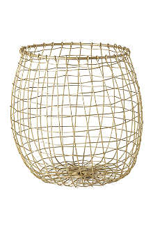 HOUSE DOCTOR Brass mesh basket 24cm